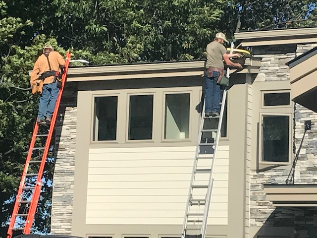 Liberty Seamless Gutter Project